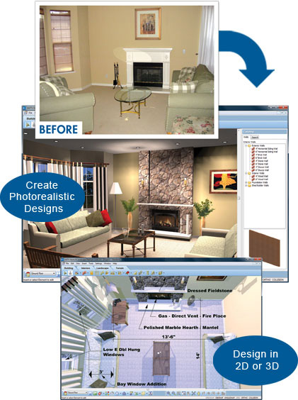 Interior home design software virtual architect Home renovation design software