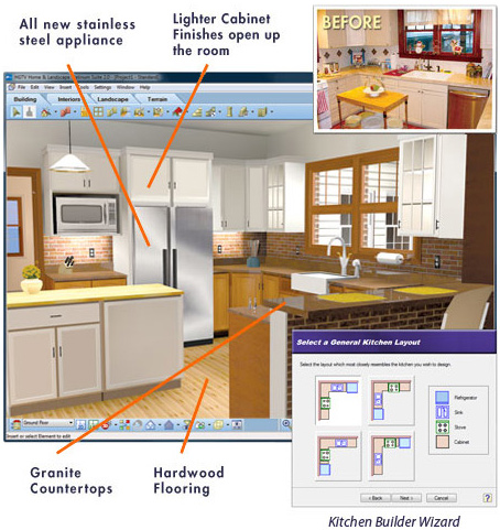 Kitchen design software virtual architect for Virtual home builder free