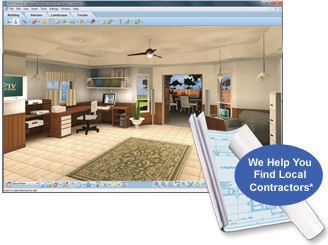 3. FURNISH Add Office Equipment And Furnishings. Then Render Your Design In  Photorealistic 3D   And Your Plan Is Complete!
