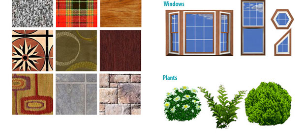 Flooring, Fabrics, Carpeting, Plants, Windows