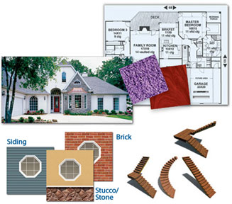 Home Design. Easy Materials Easily Add Brick, Stone, Or Other Materials  With Complete Control.
