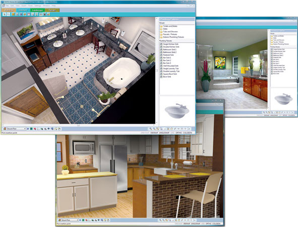 Hgtv software allows you to easily view 3d virtual tours Home remodeling software